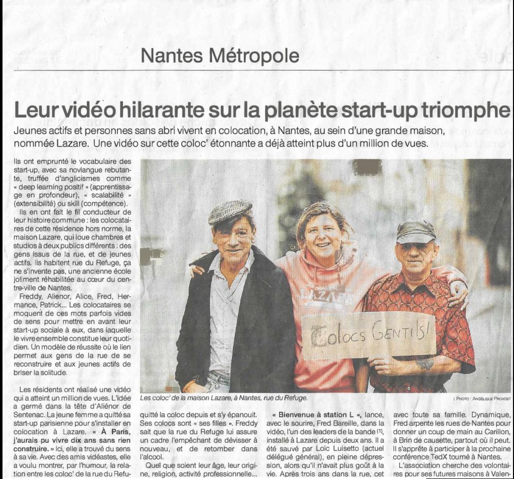 Notre vidéo Startup à l'honneur dans Ouest France!